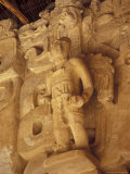 Stucco Bas-Reliefs on the Facade of La Torre  Ek Balam Ruins  Maya Civilization  Yucatan  Mexico