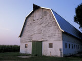 Barn and Corn Field at Chino Farms  Maryland  USA