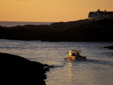 Fishing Boat in the Cove at Sunrise  Maine  USA
