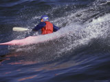 Kayak Surfing  Santa Cruz  California  USA