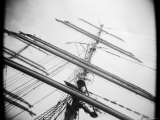 Masts of Tall Ship  Boston  Massachusetts  USA