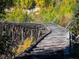 Remnants of the CR and NW Trestle Along the McCarthy Road  Alaska  USA