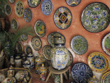 Talavera Pottery on Display  Puerto Vallarta  Mexico