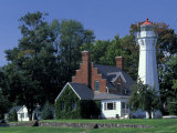 Port Sanilac Lighthouse  Lake Huron  Michigan  USA