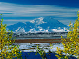 Mt Denali After First Snowfall of the Summer  Denali National Park  Alaska  USA