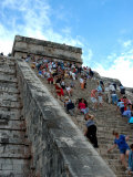 People Climbing Castle Stairs  Chichen Itza  Mexico