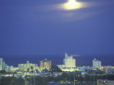 Moon over Miami Beach  Florida  USA