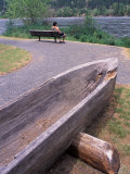 Wooden Dugout Canoe  Clearwater River  Orofino  Lewis and Clark Trail  Idaho  USA