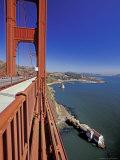 View North from Golden Gate Bridge  San Francisco  California  USA