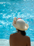 Woman with Hat at the Pool  Mayan Riviera  Mexico