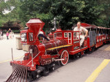 Train and Conductor at Forest Park  St Louis Zoo  St Louis  Missouri  USA