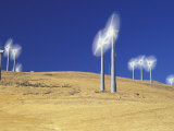 Windmills at Altamont Pass  Livermore  California  USA