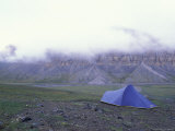 Camping Above Itikmalak River Valley  Gates of the Arctic National Park  Alaska  USA