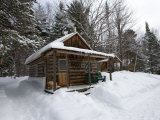 Cabin at the AMC's Little Lyford Pond Camps  Northern Forest  Maine  USA