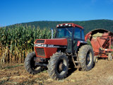 Tractor and Corn Field in Litchfield Hills  Connecticut  USA