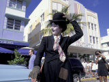 Art Deco Weekend on Ocean Drive  South Beach  Miami  Florida  USA