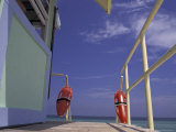 Lifeguard Stand  South Beach  Miami  Florida  USA