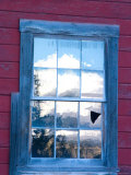 Reflection of the Wrangell Mountains in Copper Mine Window  Kennicott  Alaska  USA