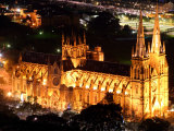 St Mary's Cathedral at Night  Sydney  Australia