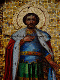 Mosaic Detail with Image of Christ  Alexander Nevsky Cathedral  Yalta  Ukraine