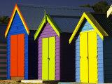 Bathing Boxes  Middle Brighton Beach  Port Phillip Bay  Melbourne  Victoria  Australia