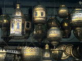 Artwork of Moroccan Brass Lanterns  Casablanca  Morocco