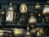 Artwork of Moroccan Brass Lanterns, Casablanca, Morocco Reproduction d'art par Bill Bachmann