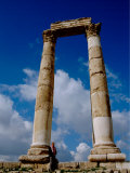 Corinthian Columns  Roman Temple and The Temple of Hercules  The Citadel  Amman  Jordan