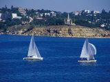 Sailboats in the Harbor Area  Port of Sevastopol  Black Sea  Sevastopol  Ukraine