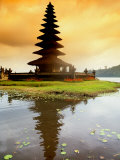 Religious Ulur Danu Temple in Lake Bratan  Bali  Indonesia
