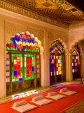 Stained Glass Windows of Fort Palace  Jodhpur at Fort Mehrangarh  Rajasthan  India