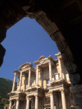 Ruins of Library  Bibliotheque of Celsius  Ephesus  Turkey