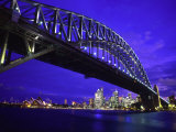 Skyline and the Harbor Bridge  Sydney  Australia