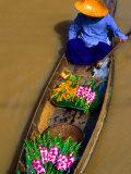 Floating Market  Damnern Saduak  Bangkok  Thailand