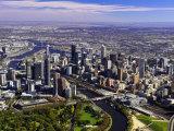 Melbourne CBD and Yarra River  Victoria  Australia