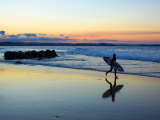 Surfer at Dusk  Gold Coast  Queensland  Australia