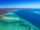 West side of Fraser Island and Great Sandy Straits  Queensland  Australia