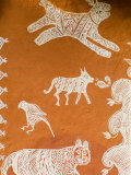 Close-up of Painting in Ranthambore National Park  Rajasthan  India