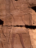 Close-up of Hieroglyphics  Ancient Ruins of Temple of Luxor  Egypt