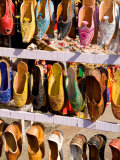Shoes for Sale in Downtown Center of the Pink City  Jaipur  Rajasthan  India