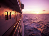 Colorful Sunset on a Cruise Ship