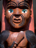 Maori Carving on Arataki Visitors Centre  Waitakere Ranges  Auckland