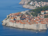 Aerial View of Medieval Walled City  Dubrovnik  Croatia