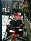 Gondolas on Grand Canal  Venice  Italy