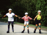Generations of Women Rollerblading Together