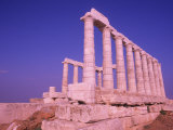 Ruins on Cliff in Cape Sounion  Poseidon  Greece
