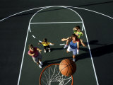 Family Playing Basketball Together