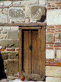 Detail of Historic Wooden Door  St John Aliturgetoes Church  Nessebur  Bulgaria