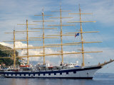 Royal Clipper in Harbor  Dubrovnik  Croatia