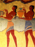 Artwork in Heraklion Knossos Palace  Greece